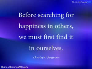 find happiness within first