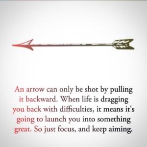 arrow focus forward
